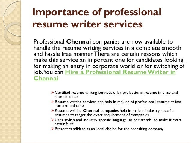 why resume writing services is important