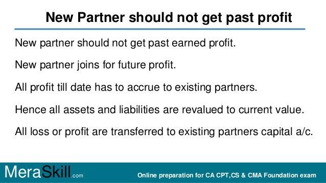 Why revaluation on admission of partner Slide 2