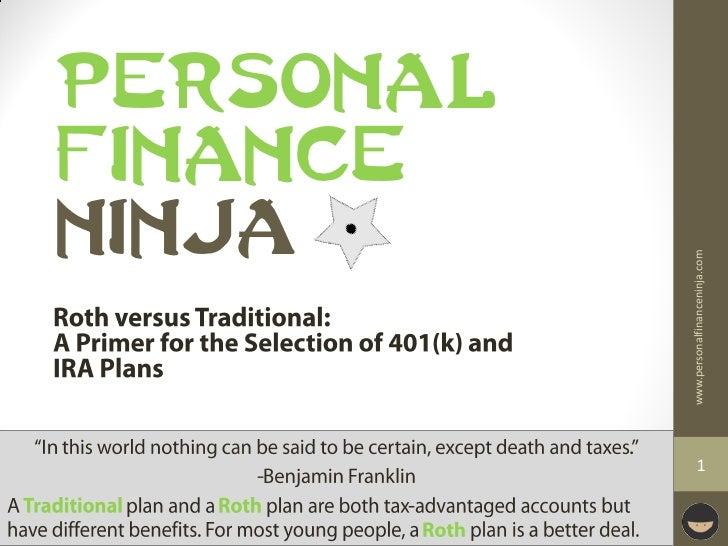 NINJA                                FINANCE                                PERSONAL         www.personalfinanceninja.com 1