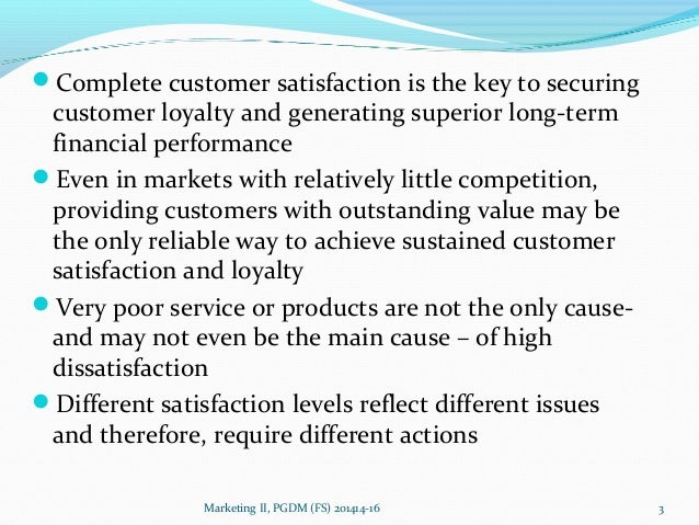 Why satisfied customers defect ?? Slide 3