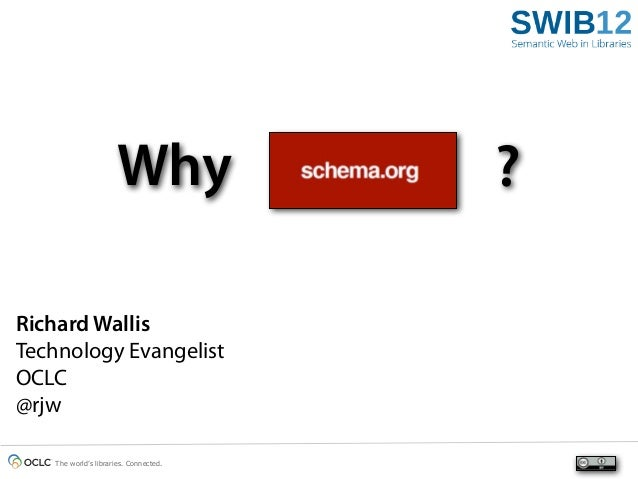 Why               ?Richard WallisTechnology EvangelistOCLC@rjw   The world's libraries. Connected.