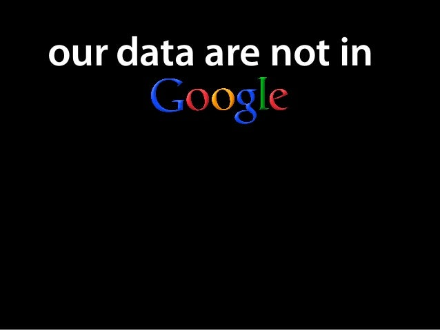 our data are not in