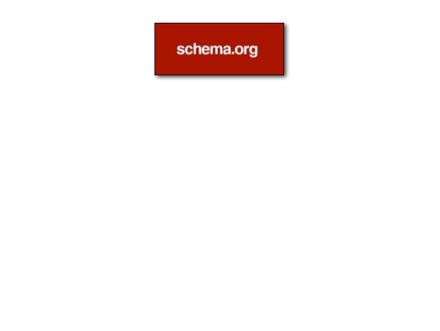 • June 2011: Launch of Schema.org • June 2012: 7%-10% of crawled pages contain Schema.org markup