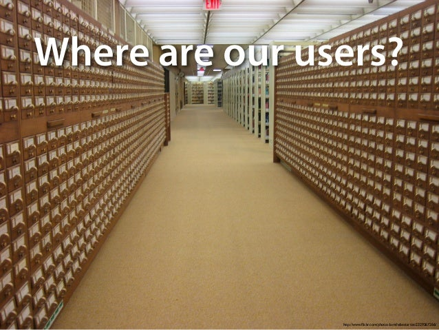 http://www.flickr.com/photos/iamthebestartist/2329267266/ Where are ?our users