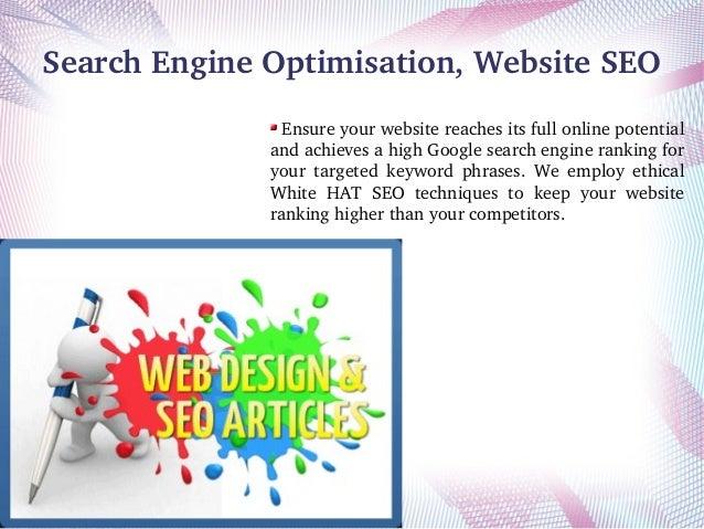 SearchEngineOptimisation,WebsiteSEO Ensureyourwebsitereachesitsfullonlinepotential andachievesahighGoogle...