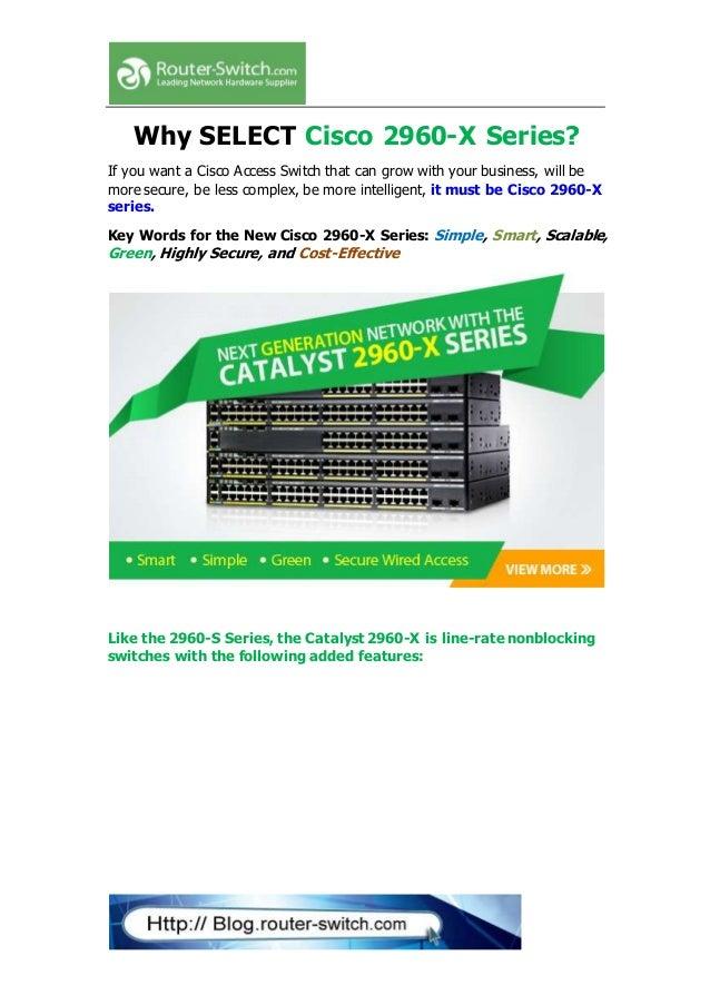 Cisco Catalyst 2960 X Series Manual
