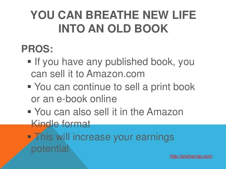 how to write an ebook and sell it on amazon