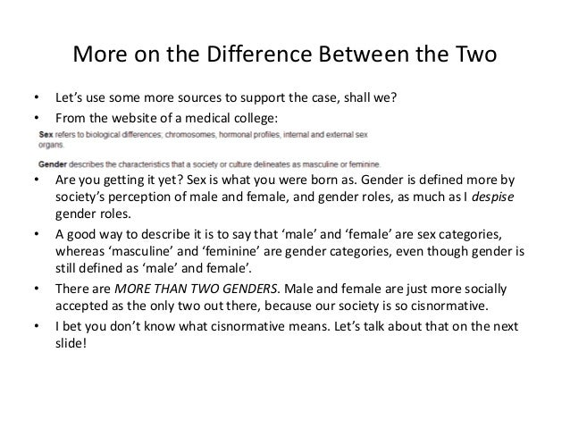 Distinguish Between Sex And Gender 61