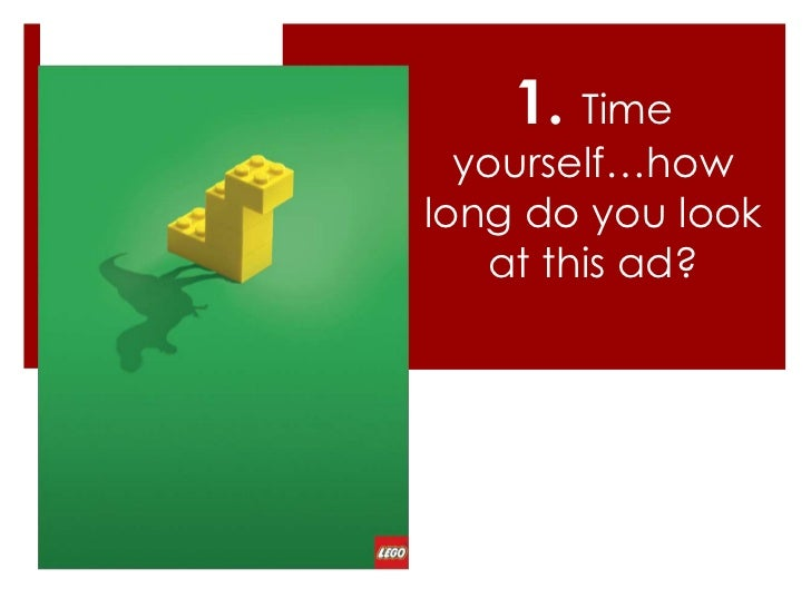 reasons on why sex sells time yourself how long do you look at this ad