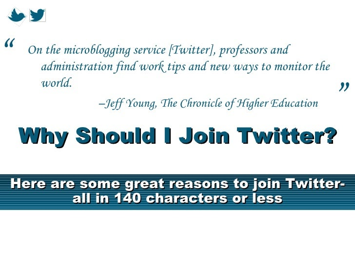 """   On the microblogging service [Twitter], professors and      administration find work tips and new ways to monitor the ..."