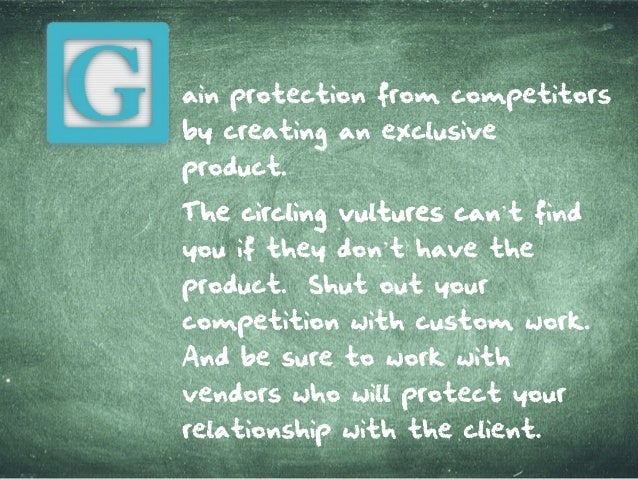 ain protection from com petitors by creatingan exclusive product. ThecirclingvulturescanThecirclingvulturescan't find youi...
