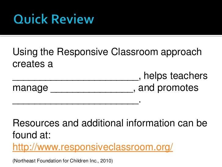 Collaborative Problem Solving Responsive Classroom ~ Why should i use the responsive classroom approach