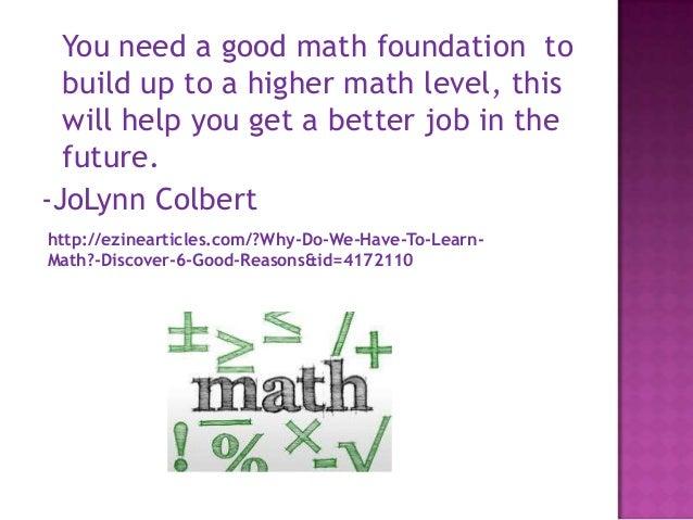 Teaching Kids Why Math Matters | Education.com
