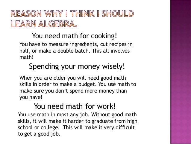Why should we learn math? - Quora