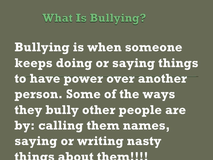 reasons not to bully