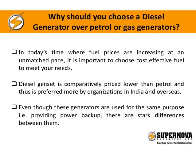 Why should you choose a diesel generator over petrol or gas generators - Choosing a gasoline powered generator ...