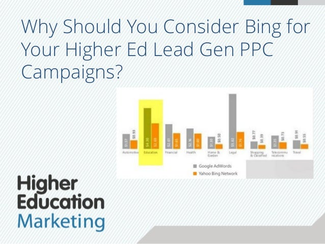 Why Should You Consider Bing for Your Higher Ed Lead Gen PPC Campaigns?