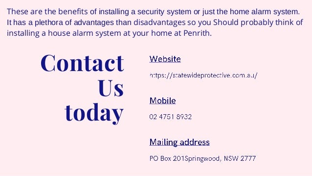 Why should you find a house alarm service in penrith