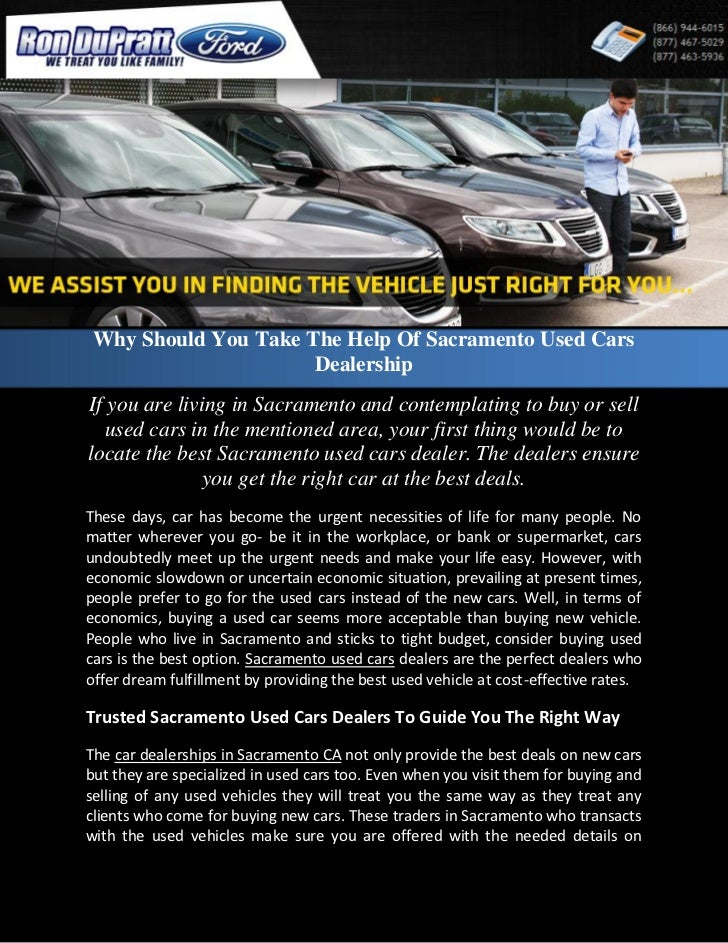 Dealerships That Buy Cars >> Why Should You Take The Help Of Sacramento Used Cars