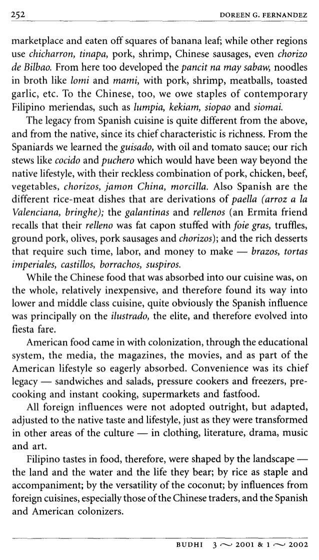 why sinigang essay by doreen fernandez