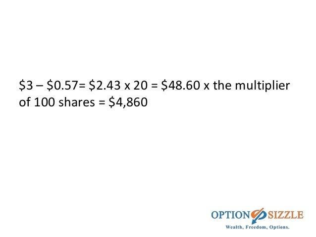 Option trade size