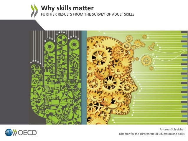 Why skills matter FURTHER RESULTS FROM THE SURVEY OF ADULT SKILLS 1 Andreas Schleicher Director for the Directorate of Edu...