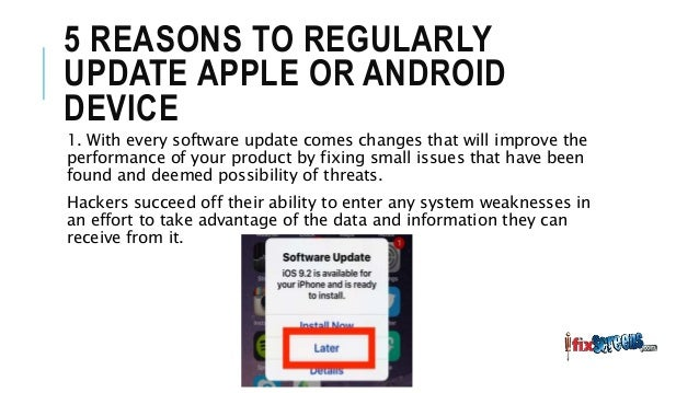 Why software updates necessary in smartphone
