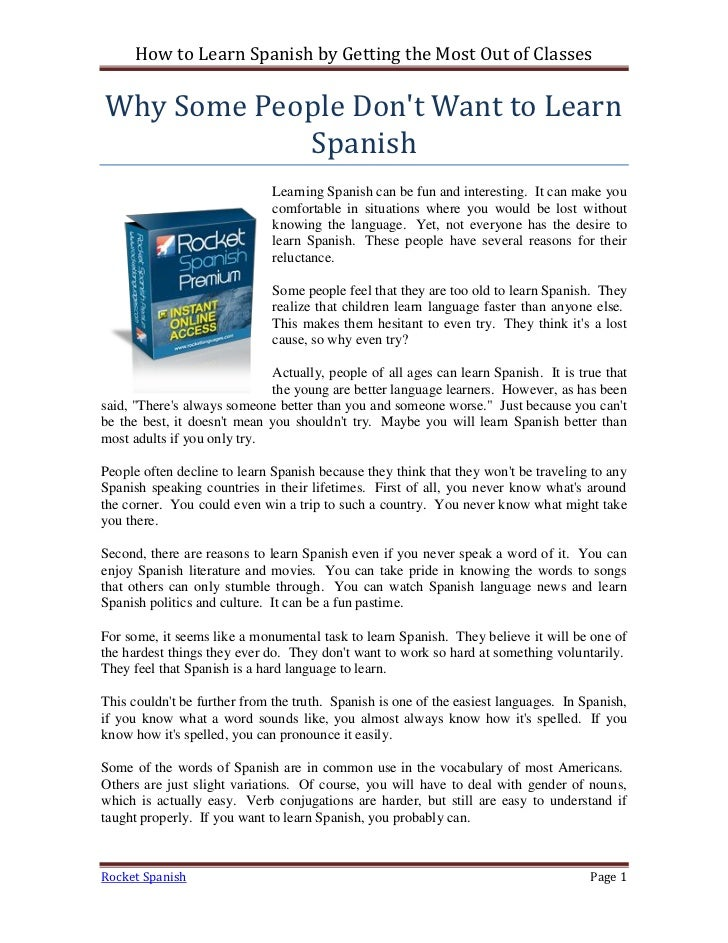 Because in Spanish | English to Spanish Translation ...
