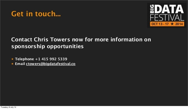 Get in touch... FESTIVAL BIG OCT 13 - 17 2014 Contact Chris Towers now for more information on sponsorship opportunities ★...
