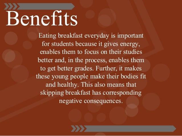 benefit of breakfast essay