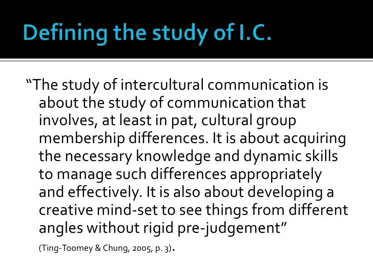 imperatives for studying intercultural communication