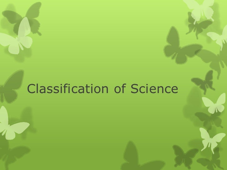 Classification of Science