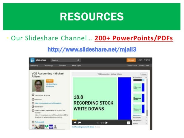 • Our Slideshare Channel… 200+ PowerPoints/PDFs RESOURCES http://www.slideshare.net/mjall3