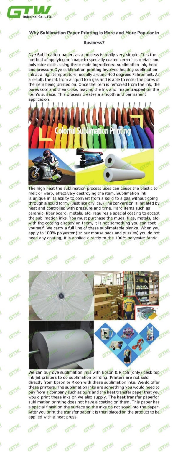 Why sublimation paper printing is More and More Popular in Business?