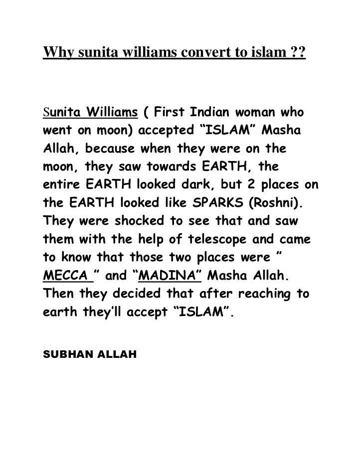 Why sunita williams convert to islam