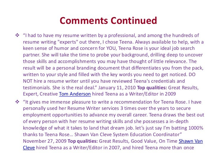 Why Teena Should Be Your Only Choice of Resume Writer