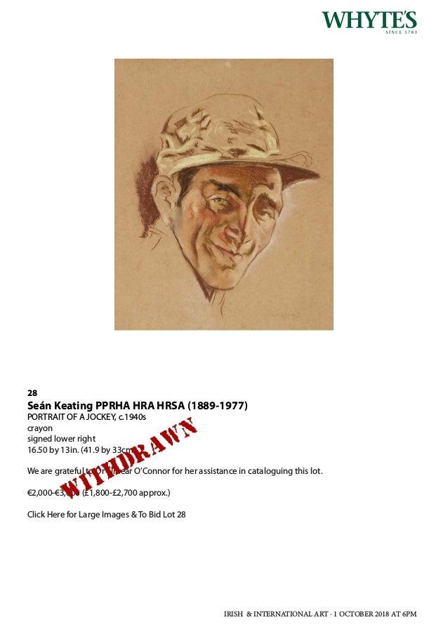 Whytes Irish   International Art Monday 1 October 2018 at 6 pm 3733efff53bc