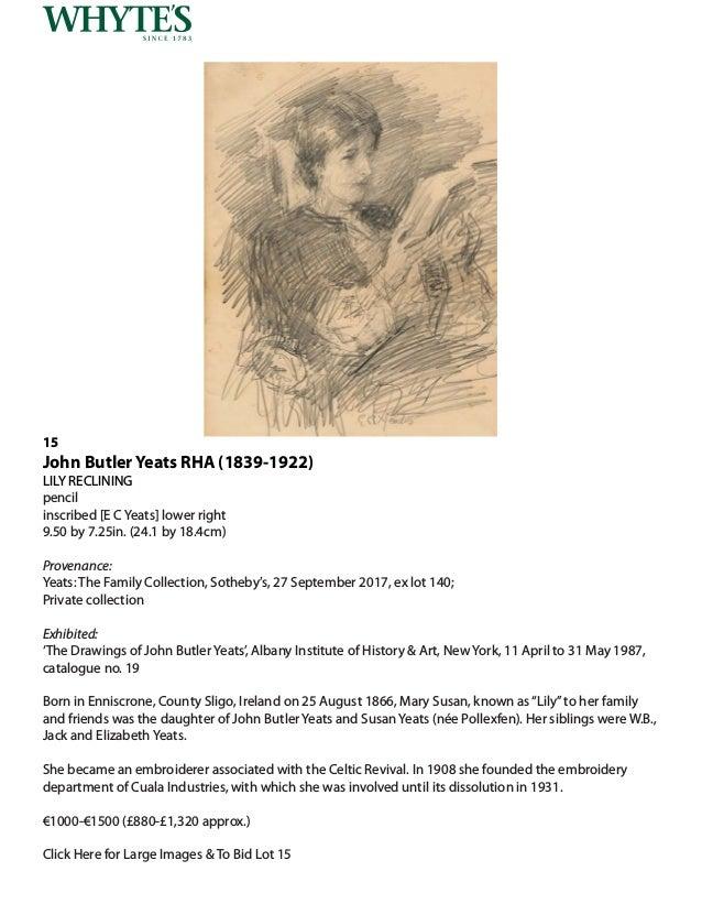 Whytes Irish & International Art Monday 4 March 2019 at 6 pm