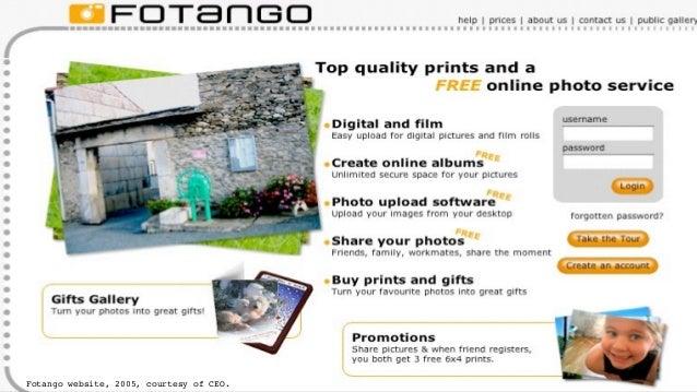 Fotango website, 2005, courtesy of CEO.