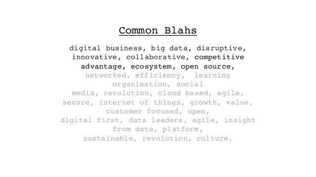 digital business, big data, disruptive, innovative, collaborative, competitive advantage, ecosystem, open source, networke...