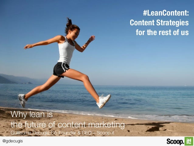 @gdecugis #LeanContent: 