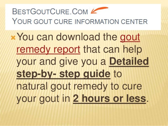 How To Cure Gout Natural Remedies