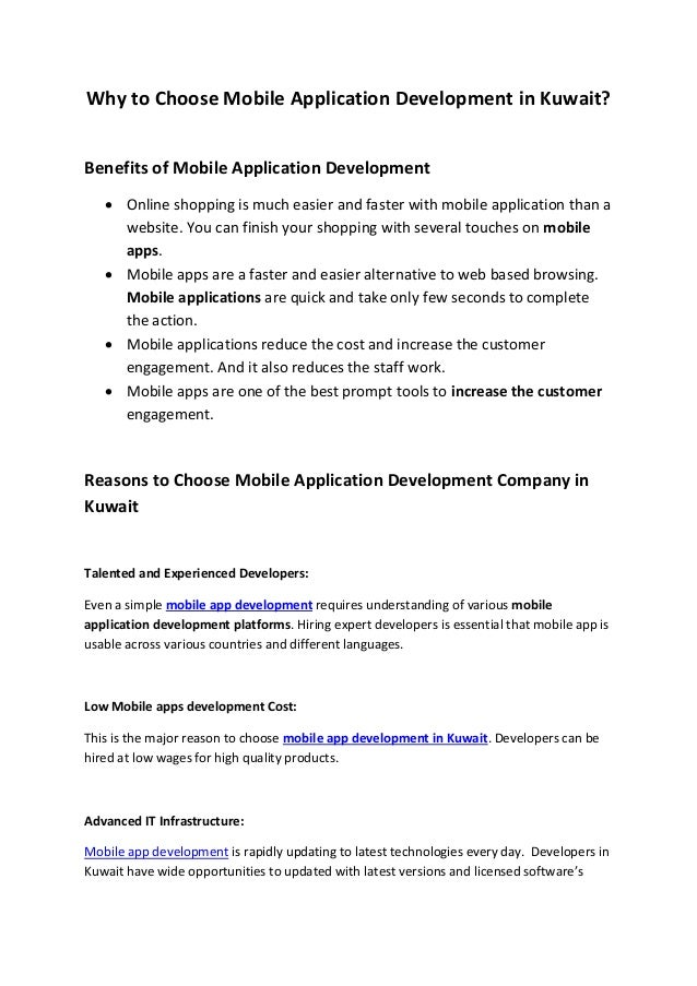 Tips to choose mobile application development in kuwait