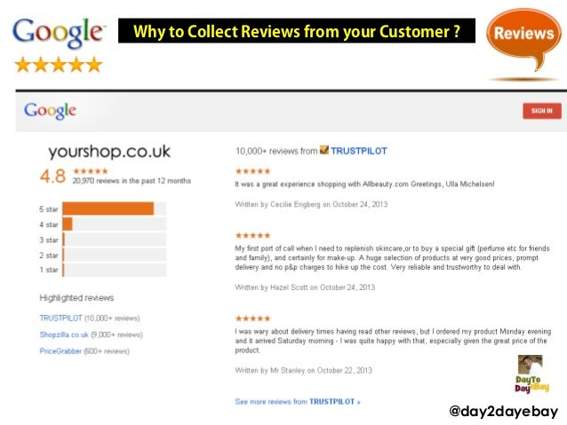 Why to Collect Reviews from your Customer ?  @day2dayebay