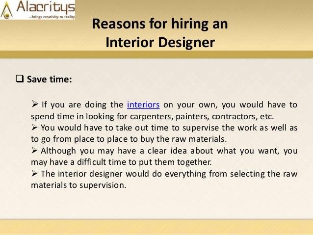 3. Reasons for hiring an Interior Designer ...