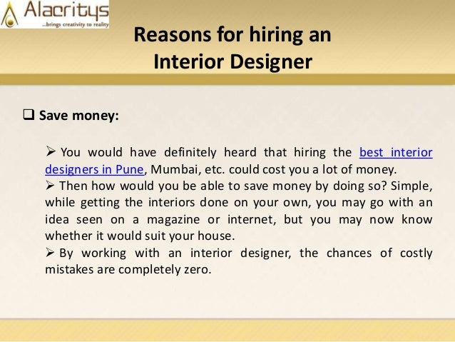 4 Reasons For Hiring An Interior Designer