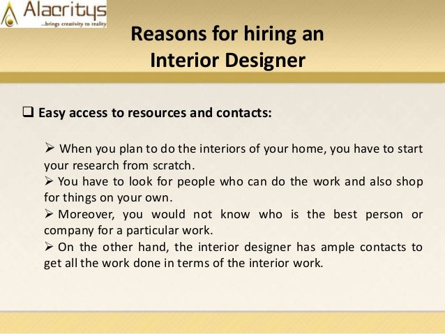 6 Reasons For Hiring An Interior Designer