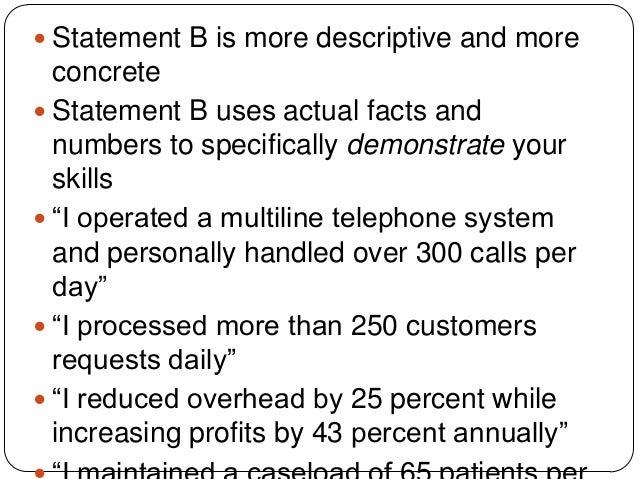Numerical Numbers Words Resume