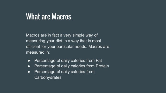how to use daily macros