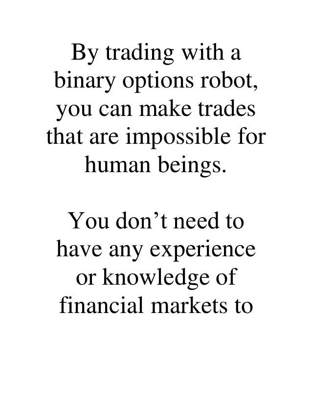 My experience with binary options